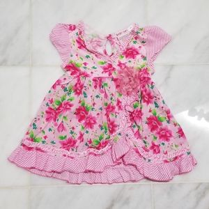 Baby Nay 12M Pink Floral Dress